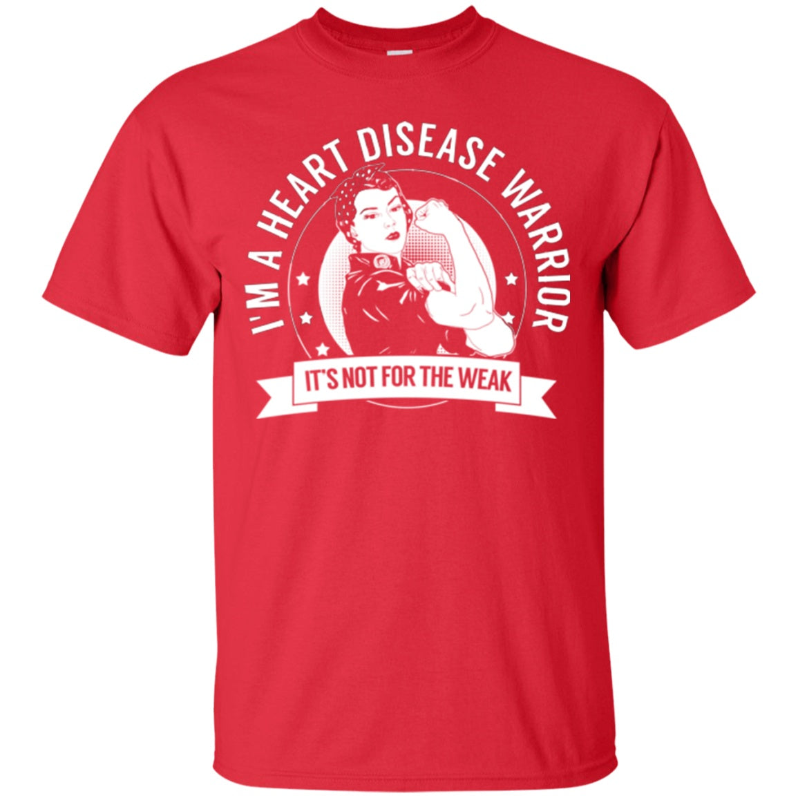 Heart Disease Warrior Not For The Weak Cotton T-Shirt - The Unchargeables