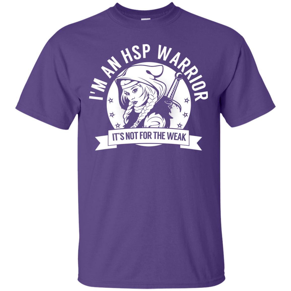 T-Shirts - Hereditary Spastic Paraparesis - HSP Warrior Hooded Cotton T-Shirt