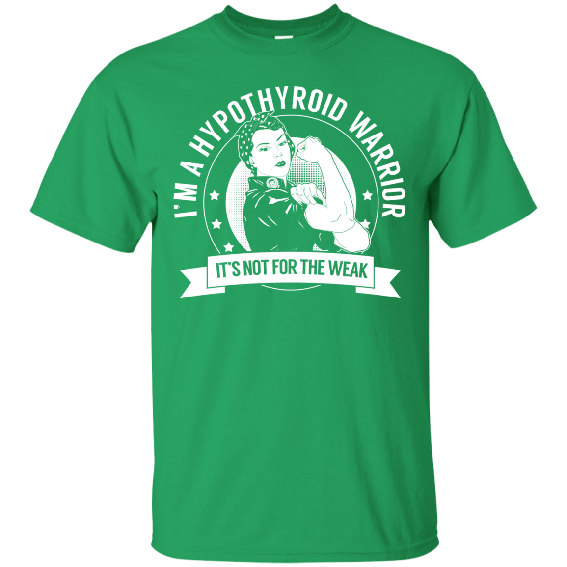 T-Shirts - Hypothyroid Warrior Not For The Weak Cotton T-Shirt