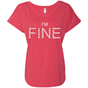 I'm Fine Between The Lines Dolman Sleeve - The Unchargeables