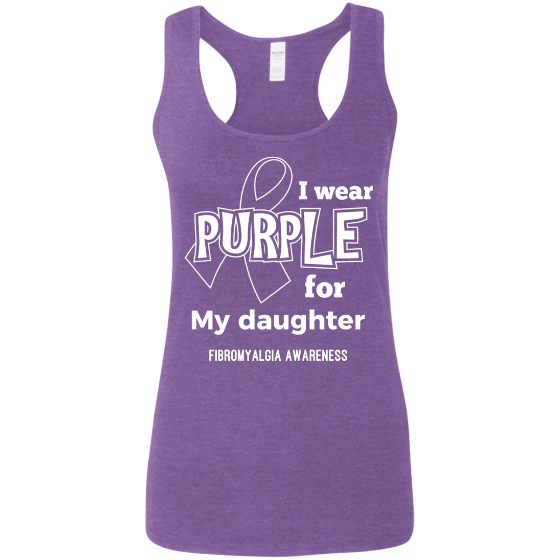 I Wear Purple For Softstyle Racerback Tank - The Unchargeables