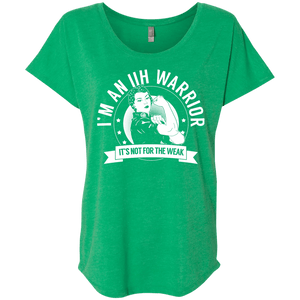 Idiopathic Intracranial Hypertension - IIH Warrior Not For The Weak Dolman Sleeve - The Unchargeables
