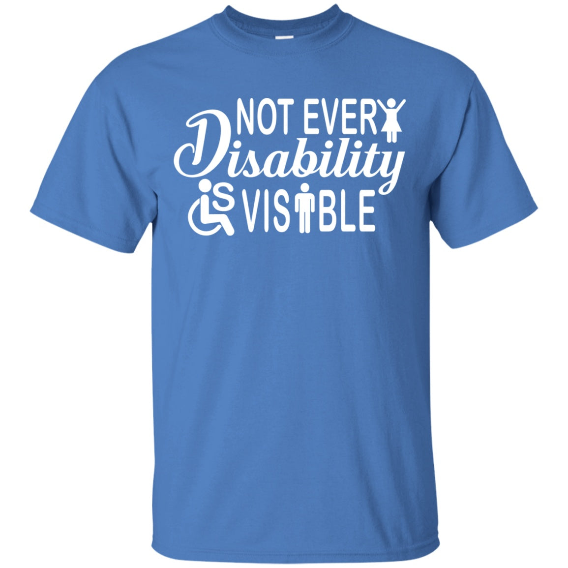 Invisible Disability with Icons Unisex Shirt - The Unchargeables