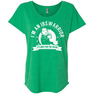 T-Shirts - Irritable Bowel Syndrome - IBS Warrior Not For The Weak Dolman Sleeve