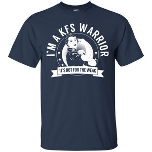 T-Shirts - Klippel-Feil Syndrome - KFS Warrior Not For The Weak Cotton T-Shirt