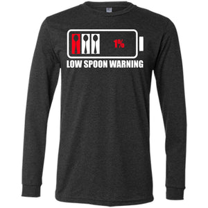 T-Shirts - Low Spoon Warning Men's Jersey Long Sleeve