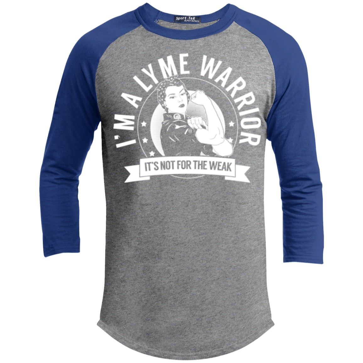 Lyme Disease - Lyme Warrior Not For The Weak Baseball Shirt - The Unchargeables