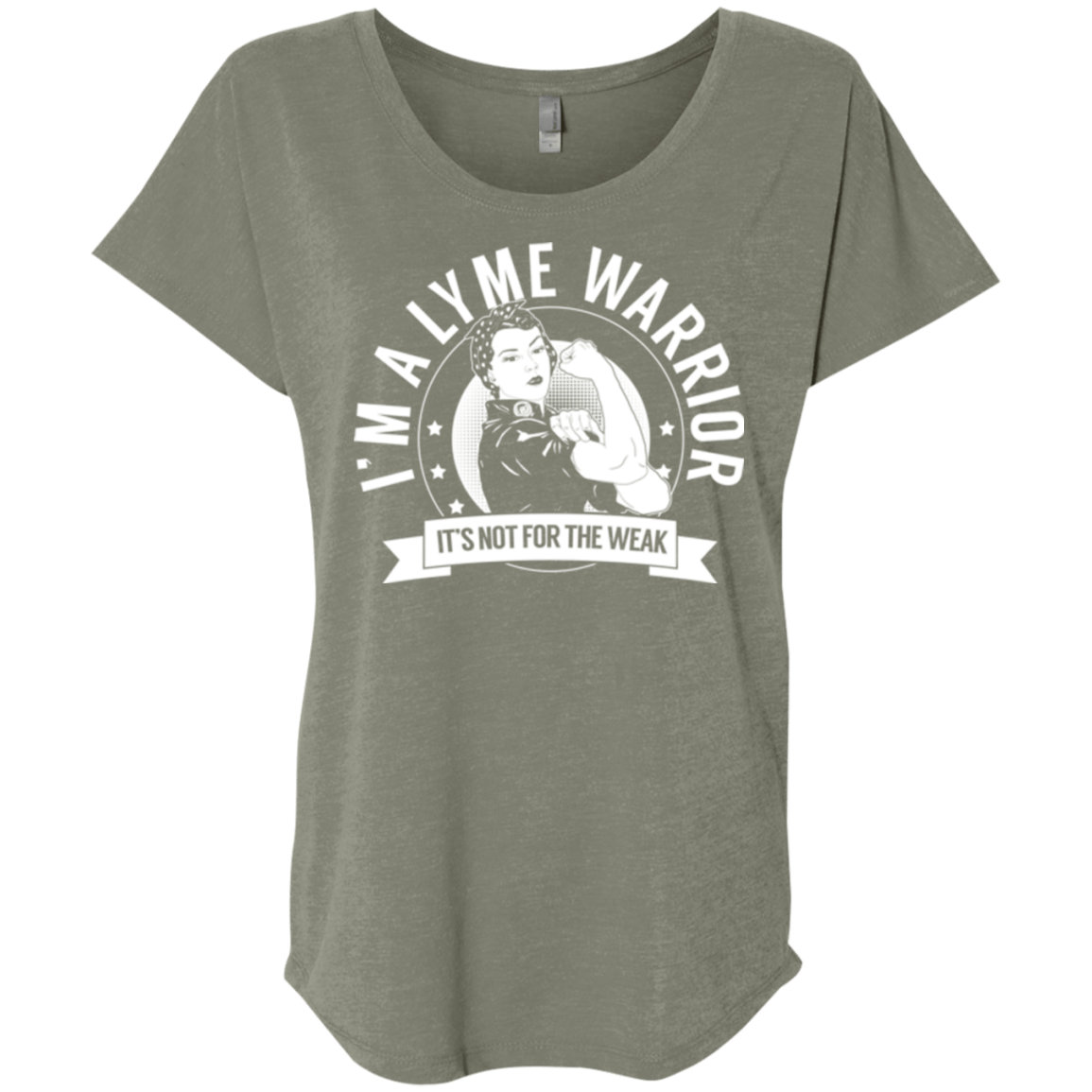 Lyme Disease - Lyme Warrior Not For The Weak Dolman Sleeve - The Unchargeables