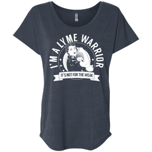 T-Shirts - Lyme Disease - Lyme Warrior Not For The Weak Dolman Sleeve