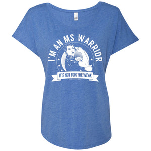 T-Shirts - MS Warrior Triblend Dolman Sleeve
