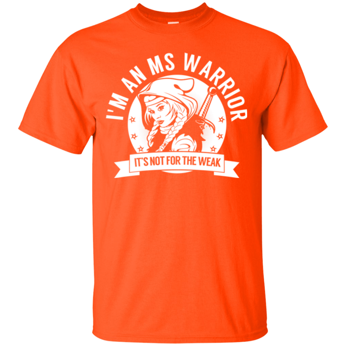 T-Shirts - Multiple Sclerosis - MS Warrior Hooded Cotton T-Shirt
