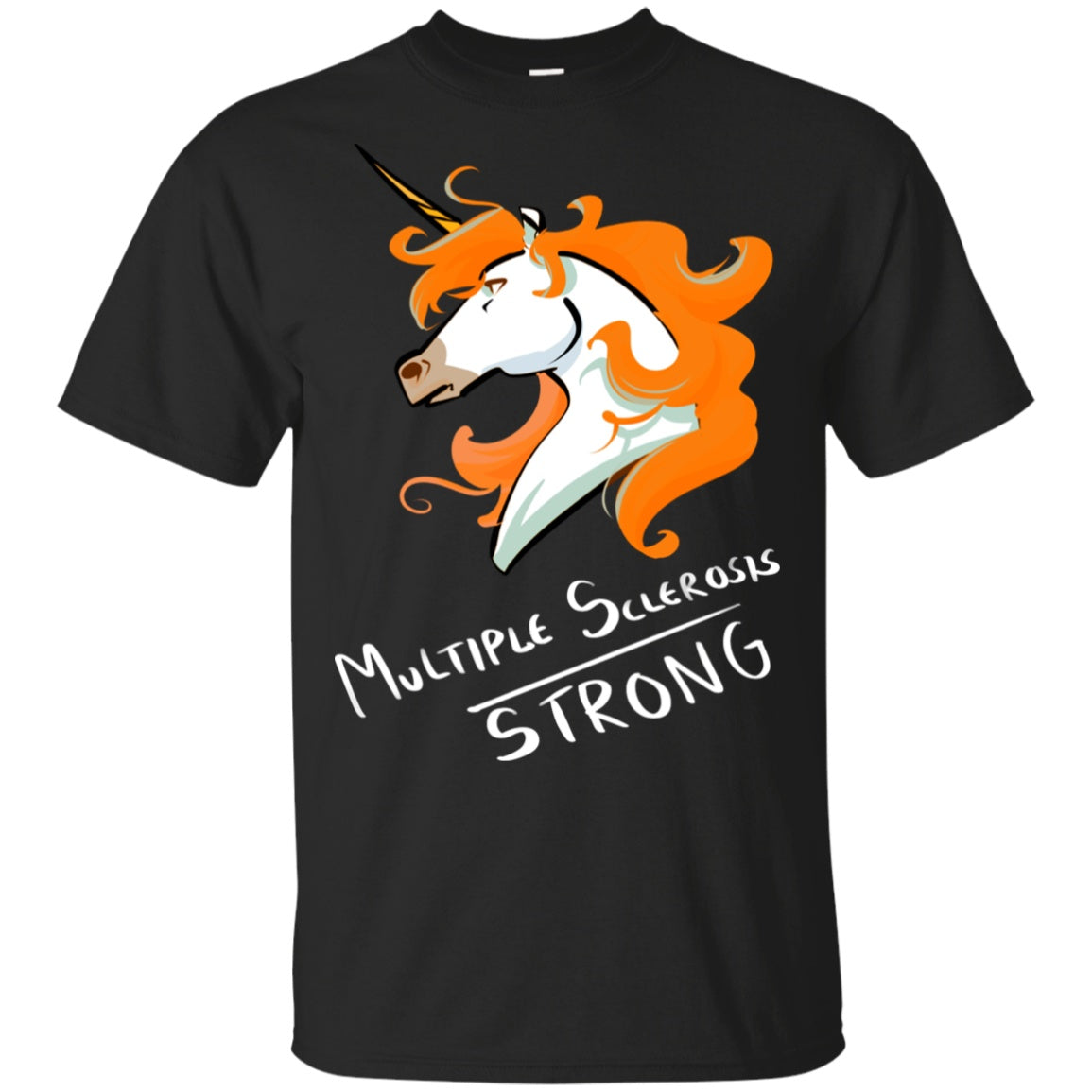 Multiple Sclerosis Strong Unicorn Cotton Unisex T-Shirt - The Unchargeables