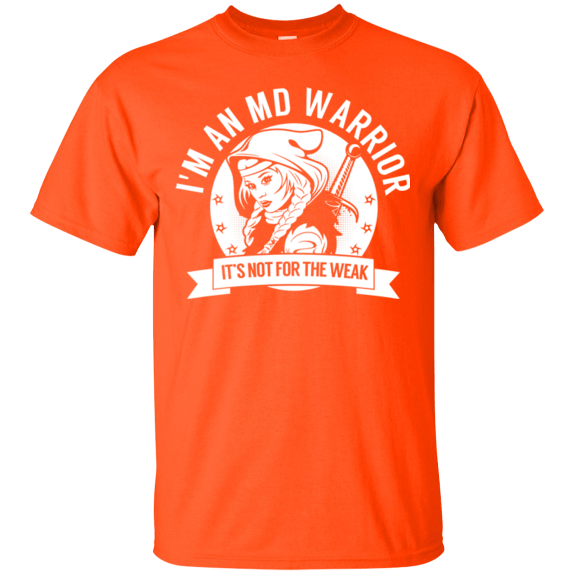 Muscular Dystrophy - MD Warrior Hooded Cotton T-Shirt - The Unchargeables