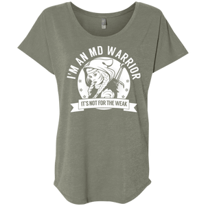 T-Shirts - Muscular Dystrophy - MD Warrior Hooded Dolman Sleeve