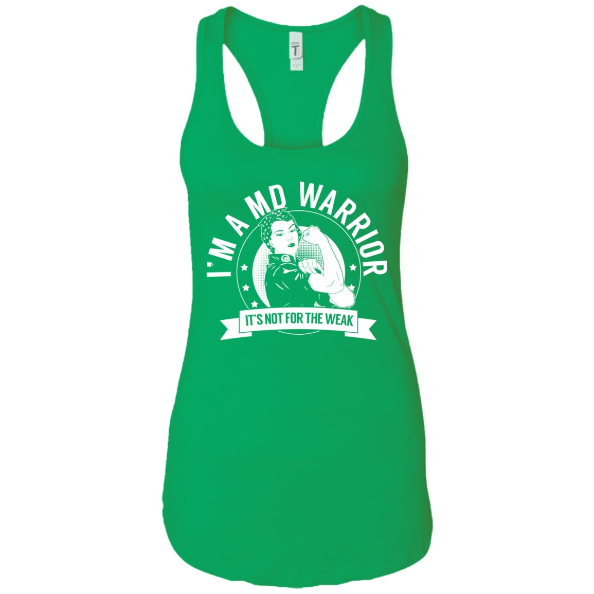 Muscular Dystrophy - MD Warrior NFTW Ideal Racerback Tank - The Unchargeables