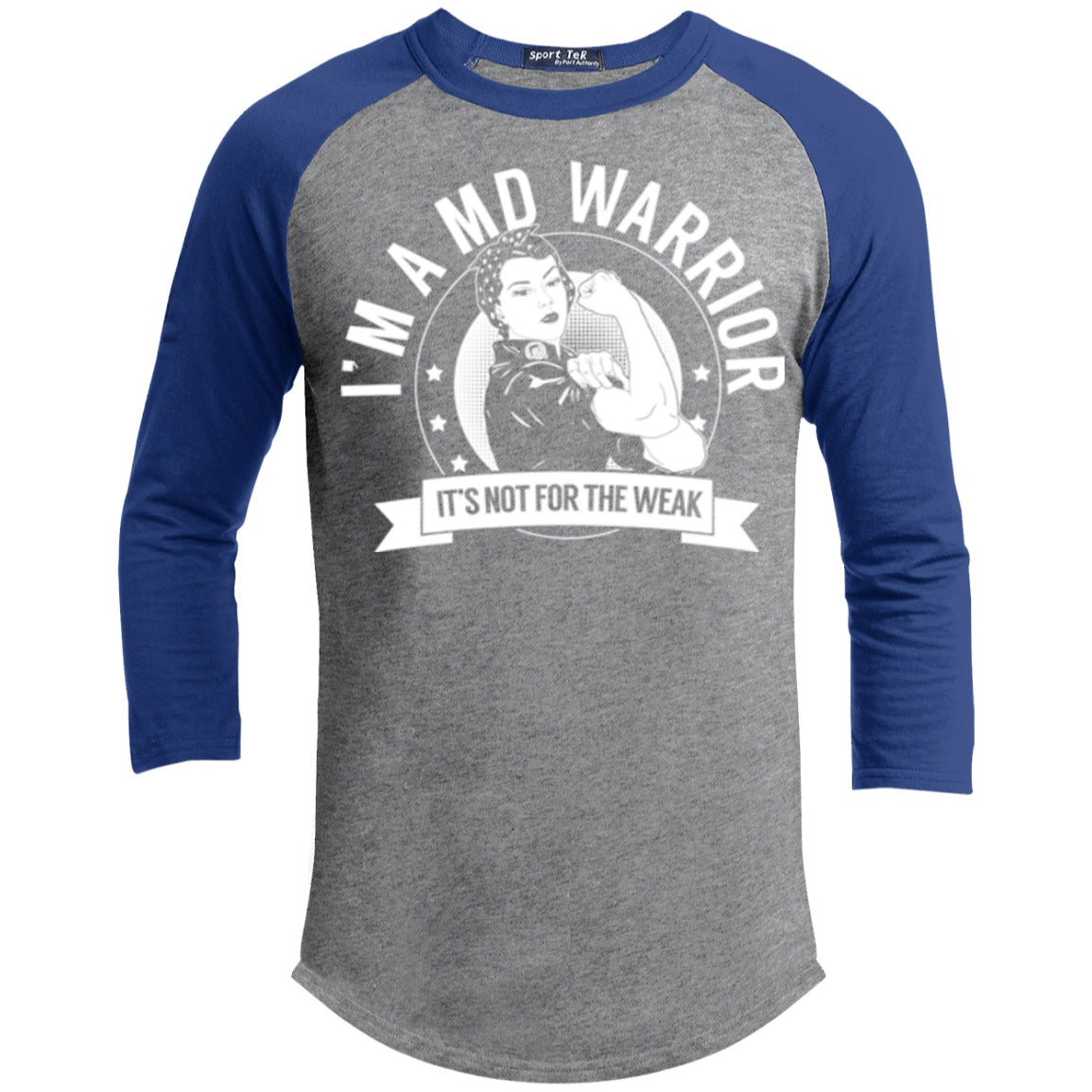 Muscular Dystrophy - MD Warrior Not For The Weak Baseball Shirt - The Unchargeables