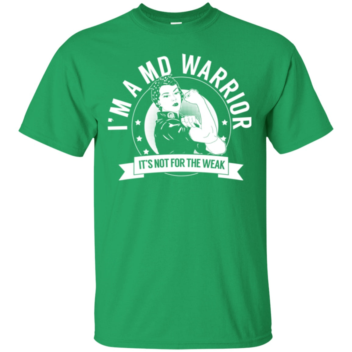 0606e102 ... T-Shirts - Muscular Dystrophy - MD Warrior Not For The Weak Cotton T-  ...