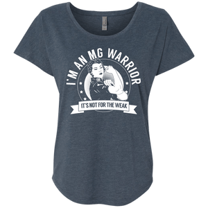 T-Shirts - Myasthenia Gravis - MG Warrior Not For The Weak Dolman Sleeve