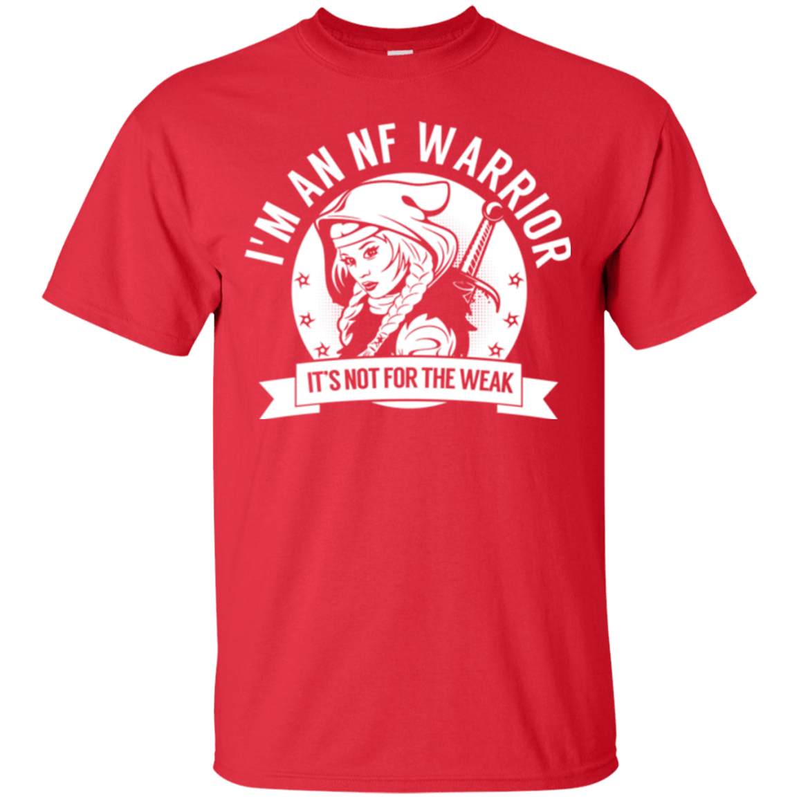 T-Shirts - Neurofibromatosis - NF Warrior Hooded Cotton T-Shirt