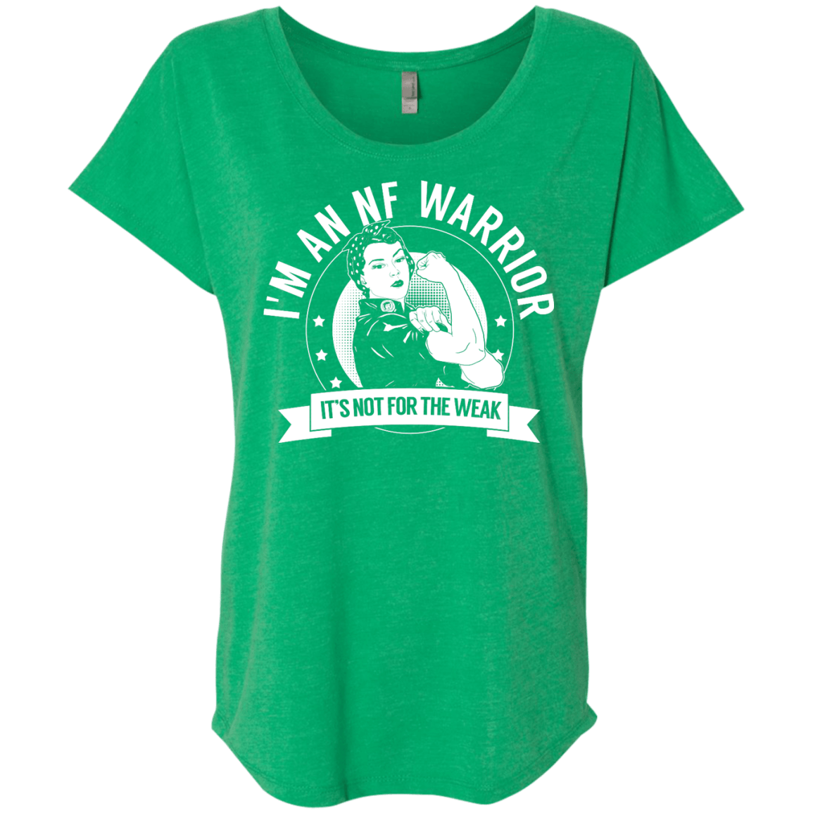 T-Shirts - Neurofibromatosis - NF Warrior Not For The Weak Dolman Sleeve