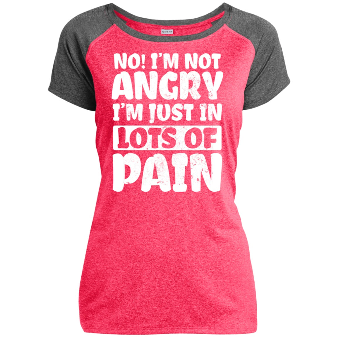 No! I'm Not Angry Heather Performance T-Shirt
