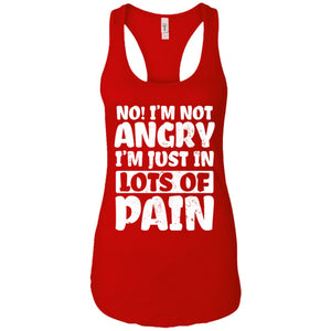 No! I'm Not Angry Ideal Racerback Tank