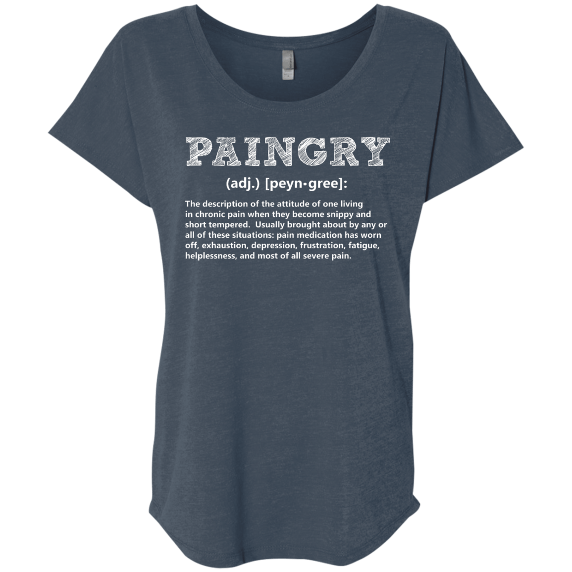 T-Shirts - Paingry Definition Dolman Sleeve