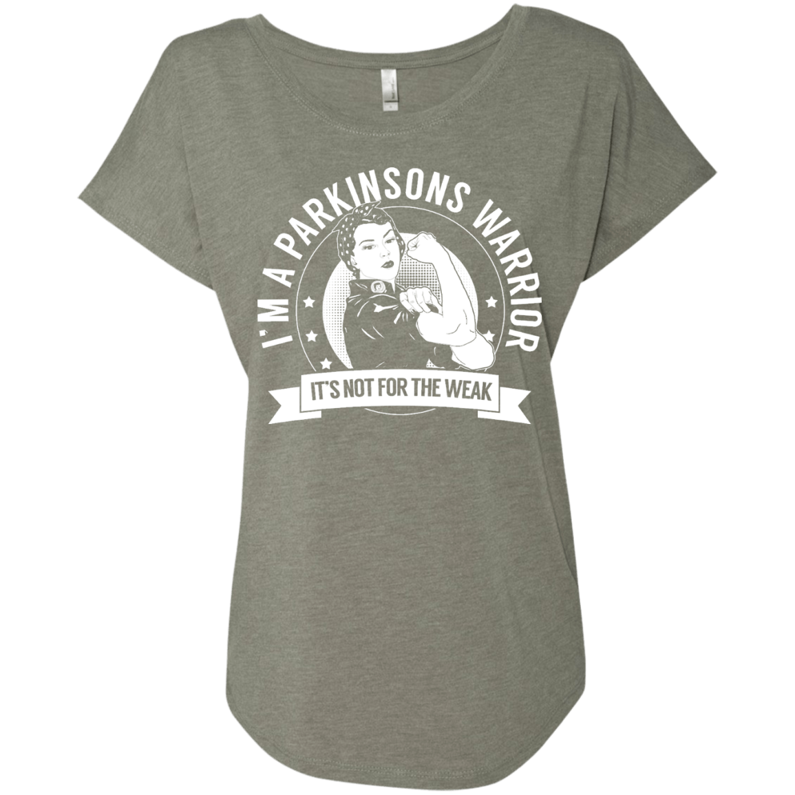 Parkinsons Warrior Not For The Weak  Dolman Sleeve - The Unchargeables