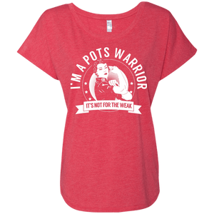 T-Shirts - Postural Orthostatic Tachycardia Syndrome - POTS Warrior Not For The Weak Dolman Sleeve