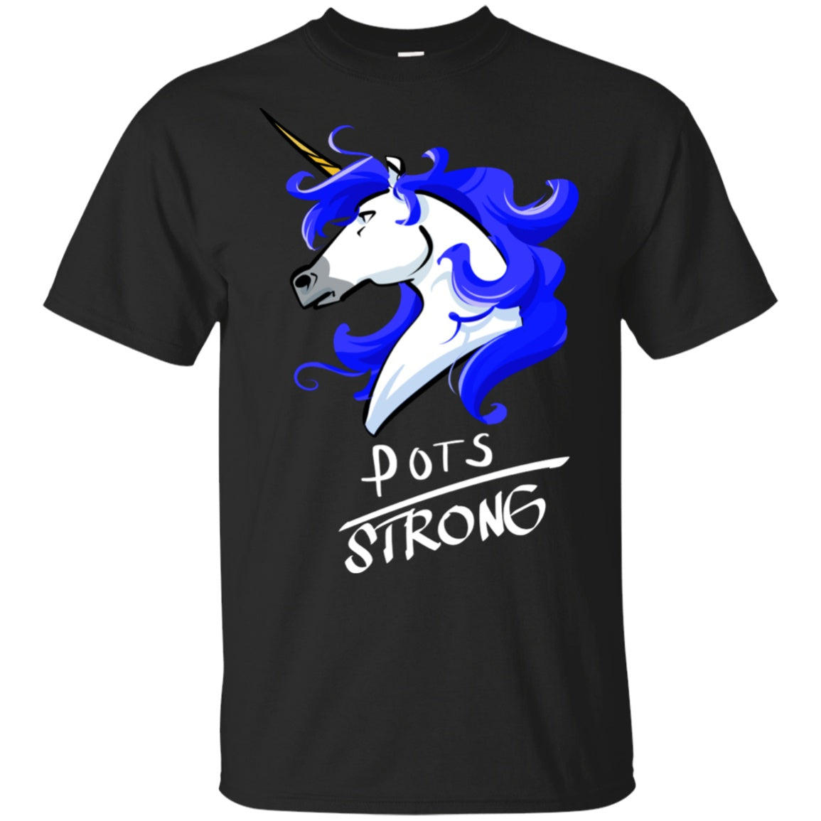 POTS Strong Unicorn Cotton Unisex T-Shirt - The Unchargeables