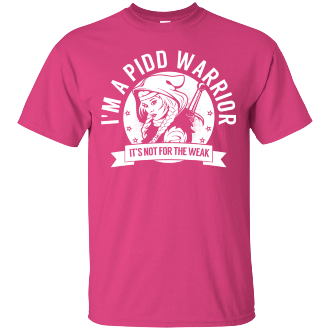 T-Shirts - Primary Immunodeficiency Diseases - PIDD Warrior Hooded Cotton T-Shirt