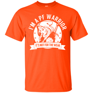 Pulmonary Fibrosis - PF Warrior Hooded Cotton T-Shirt - The Unchargeables
