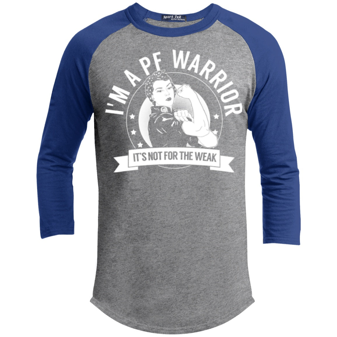 T-Shirts - Pulmonary Fibrosis - PF Warrior Not For The Weak Baseball Shirt