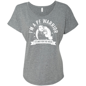 T-Shirts - Pulmonary Fibrosis - PF Warrior Not For The Weak Dolman Sleeve
