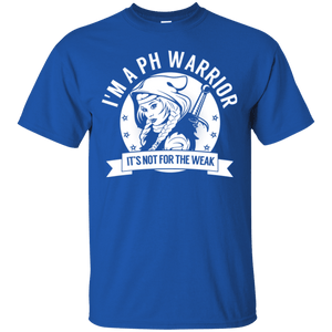 Pulmonary Hypertension - PH Warrior Hooded Cotton T-Shirt - The Unchargeables