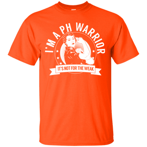 T-Shirts - Pulmonary Hypertension - PH Warrior Not For The Weak Cotton T-Shirt
