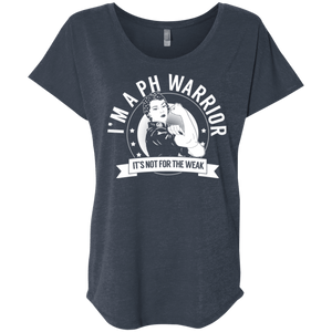 T-Shirts - Pulmonary Hypertension - PH Warrior Not For The Weak Dolman Sleeve