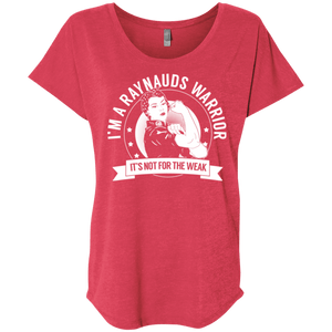 T-Shirts - Raynaud's Disease - Raynauds Warrior Not For The Weak Dolman Sleeve