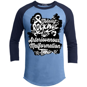 Rocking Arteriovenous Malformation Baseball Shirt - The Unchargeables