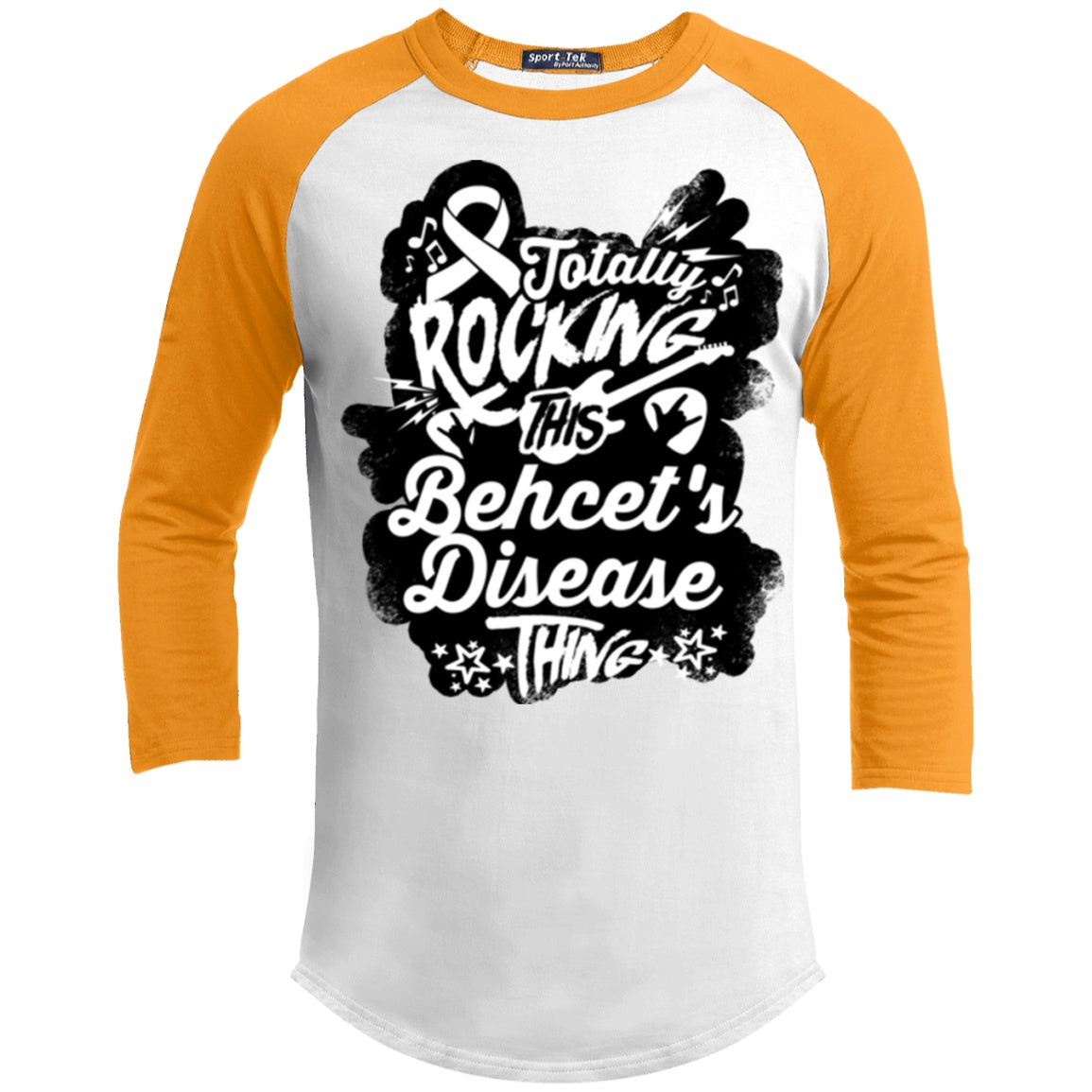 Rocking Behcet's Disease Baseball Shirt - The Unchargeables