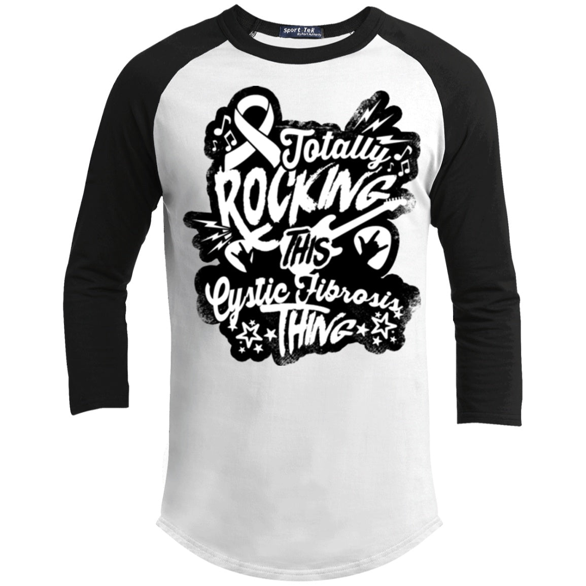 T-Shirts - Rocking Cystic Fibrosis Baseball Shirt