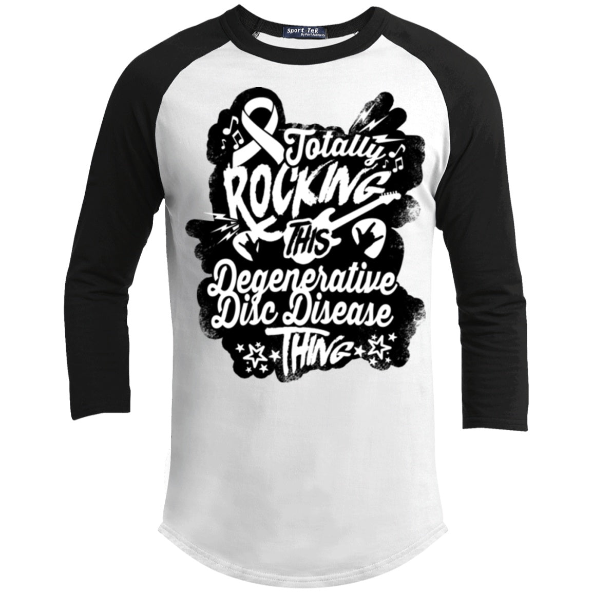 Rocking Degenerative Disc Disease Baseball Shirt - The Unchargeables