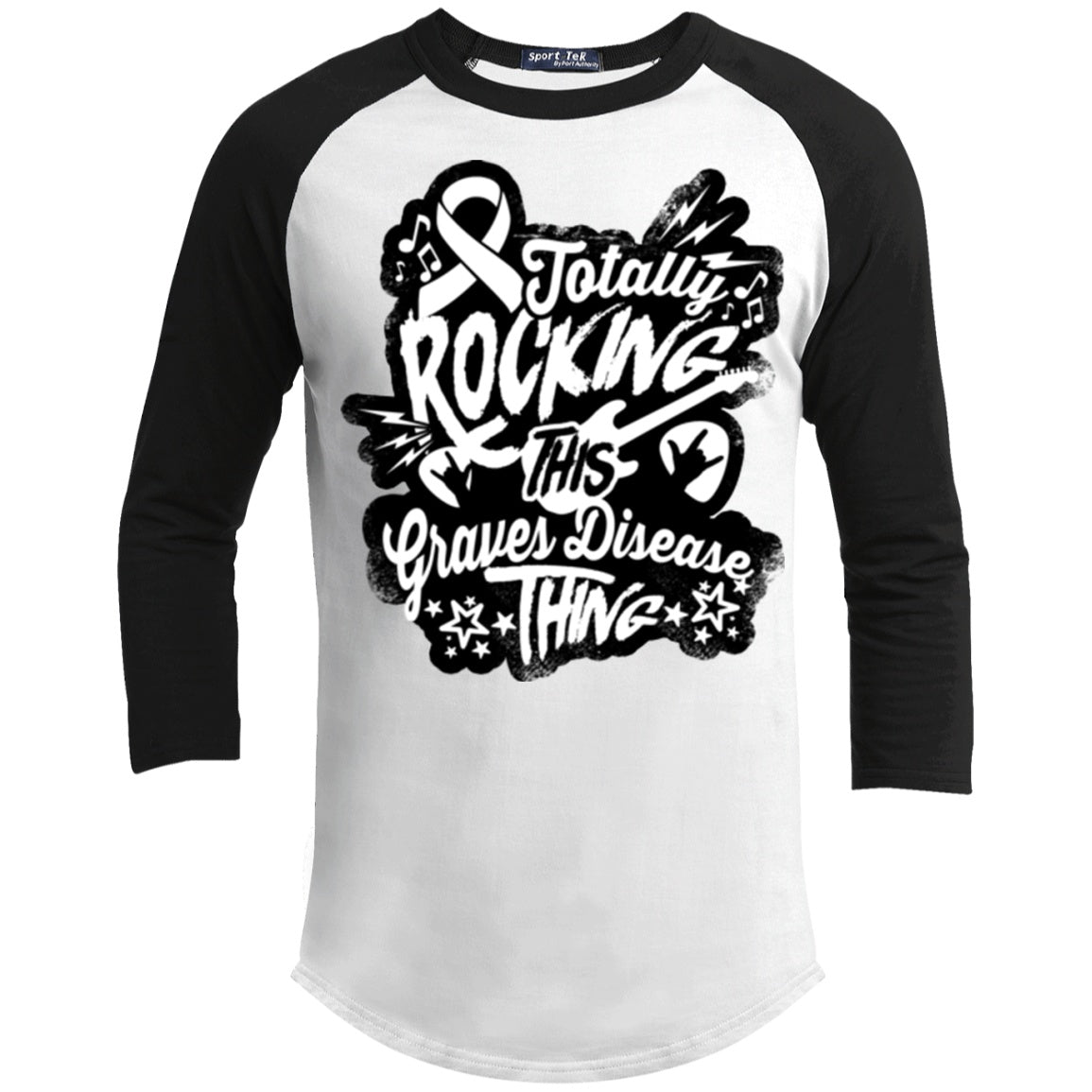 Rocking Graves Disease Baseball Shirt - The Unchargeables