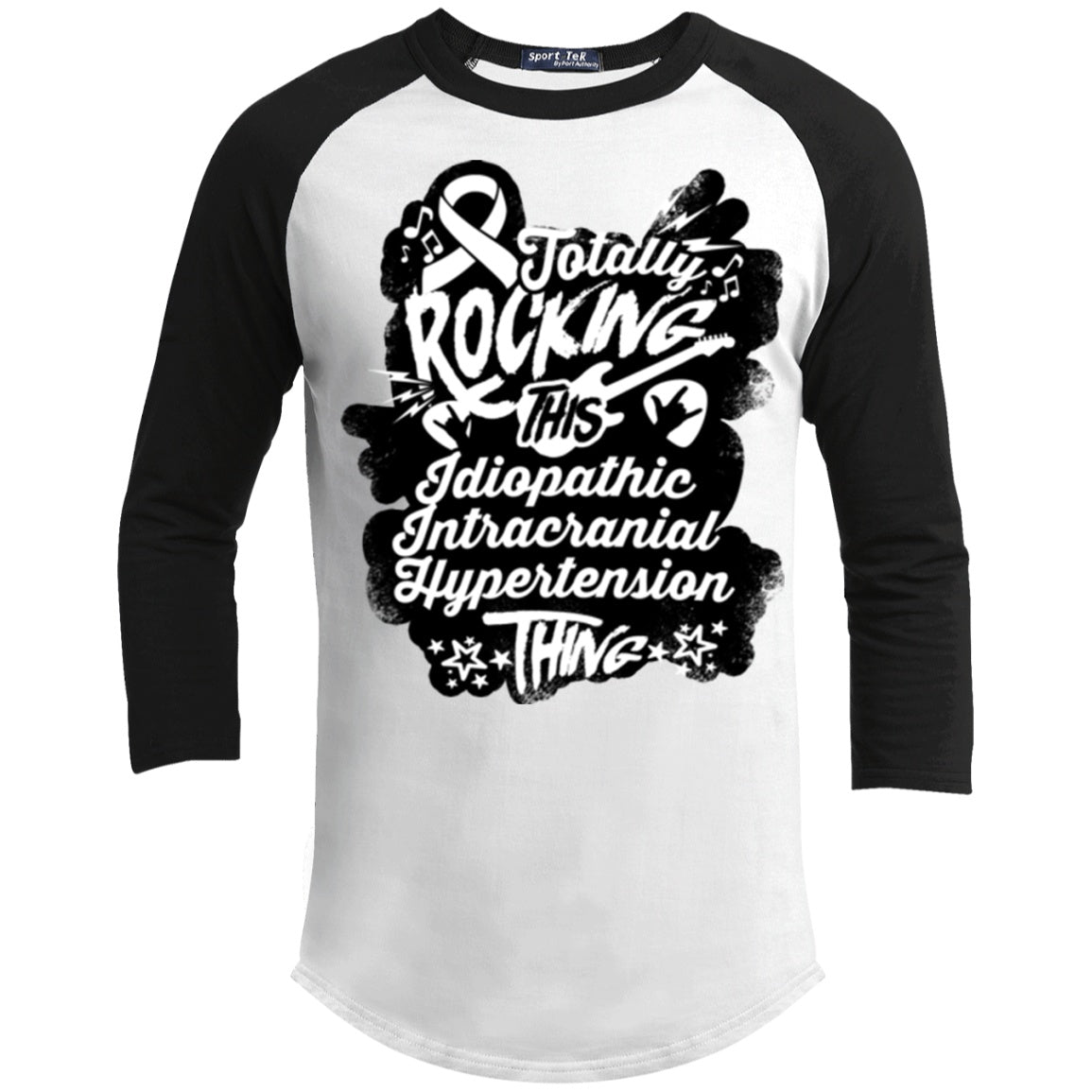 T-Shirts - Rocking Idiopathic Intracranial Hypertension Baseball Shirt