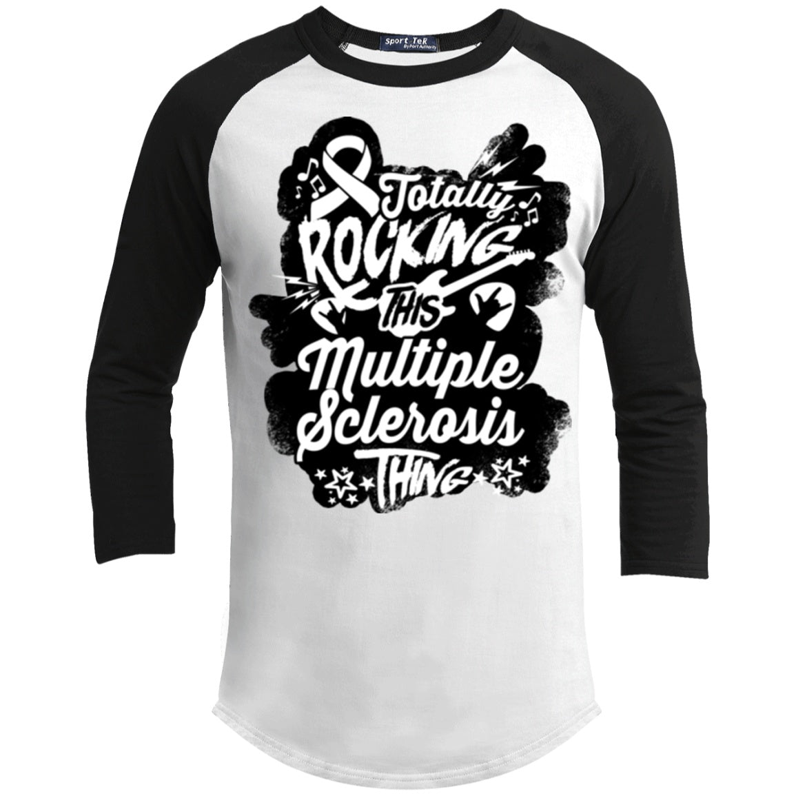 T-Shirts - Rocking Multiple Sclerosis Baseball Shirt