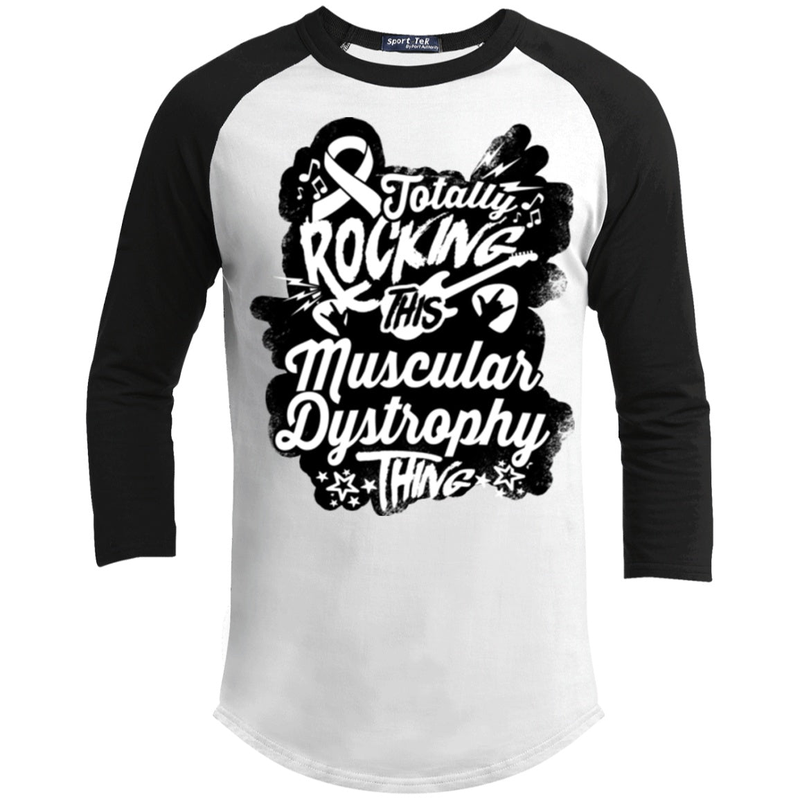Rocking Muscular Dystrophy Baseball Shirt - The Unchargeables