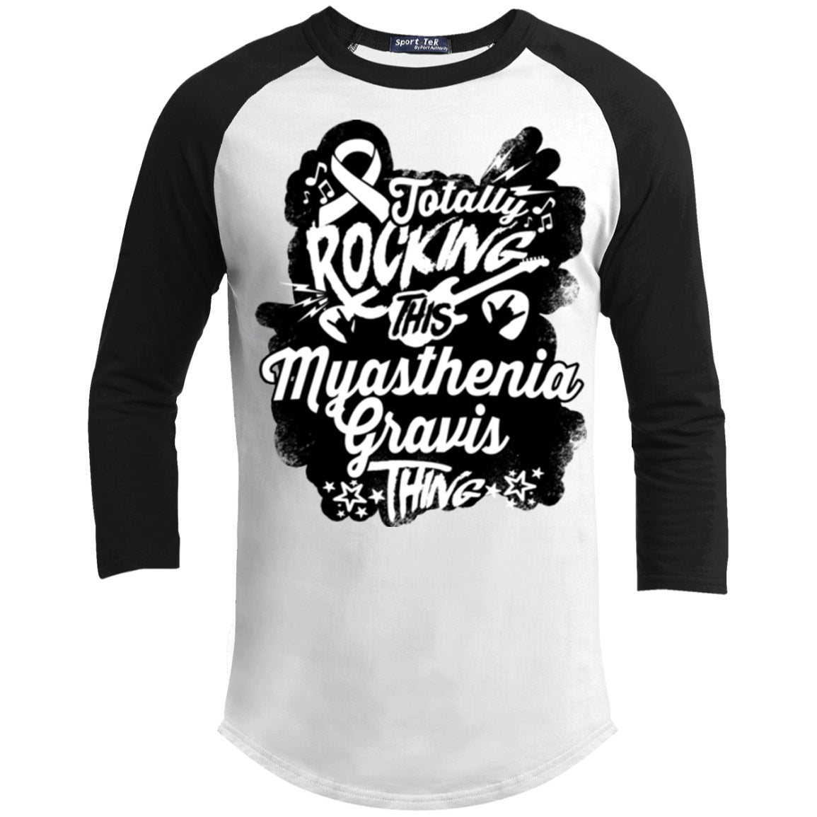 Rocking Myasthenia Gravis Baseball Shirt - The Unchargeables