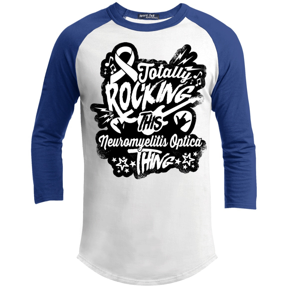 Rocking Neuromyelitis Optica Baseball Shirt - The Unchargeables