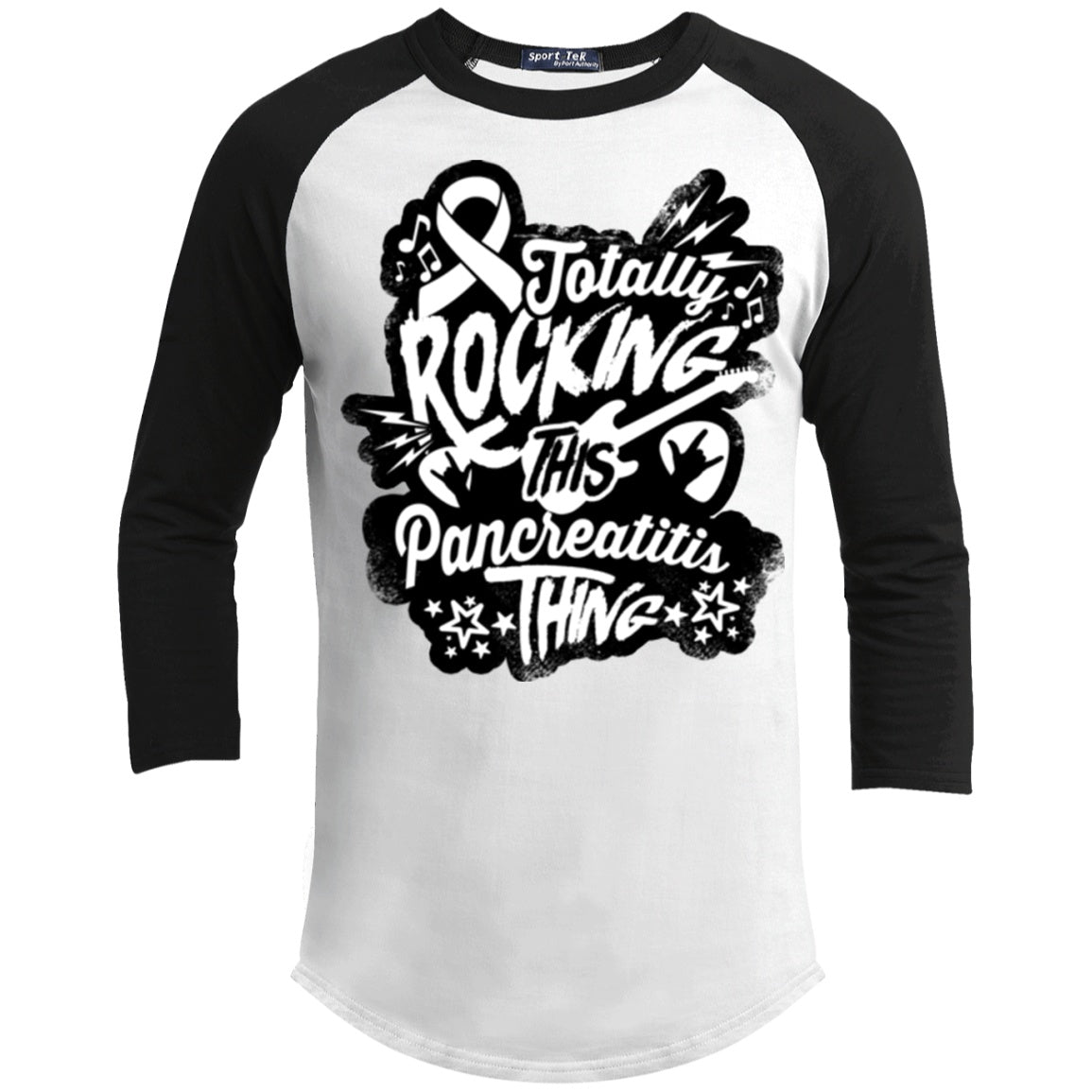Rocking Pancreatitis Baseball Shirt - The Unchargeables
