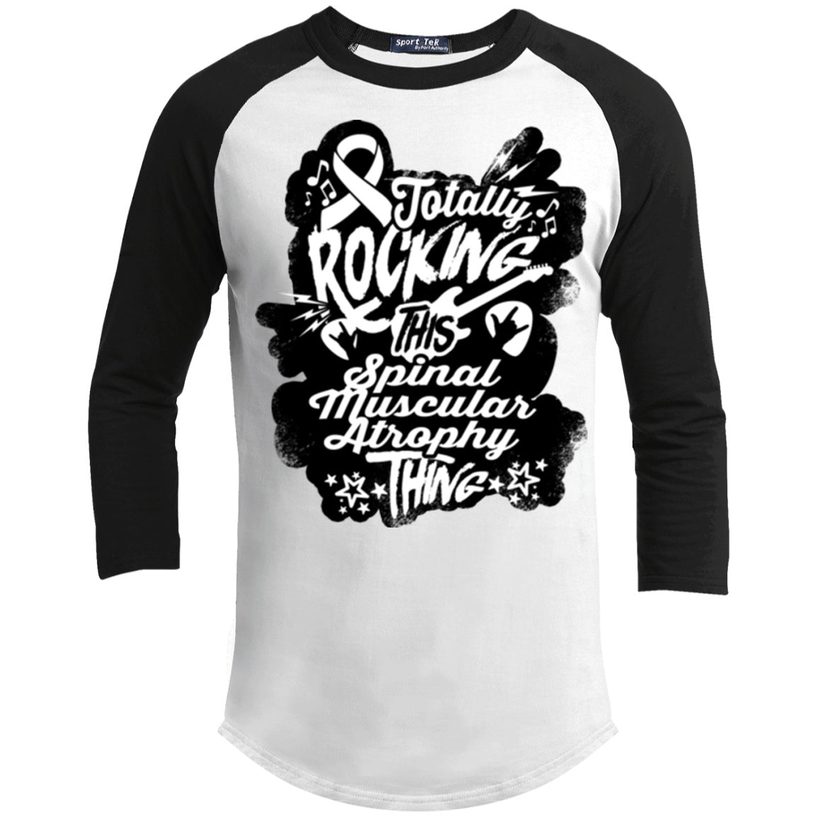 T-Shirts - Rocking Spinal Muscular Atrophy Baseball Shirt